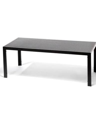 Sivý záhradný stôl s artwood doskou pre 8 osôb Le Bonom Víking, 90 x 205 cm