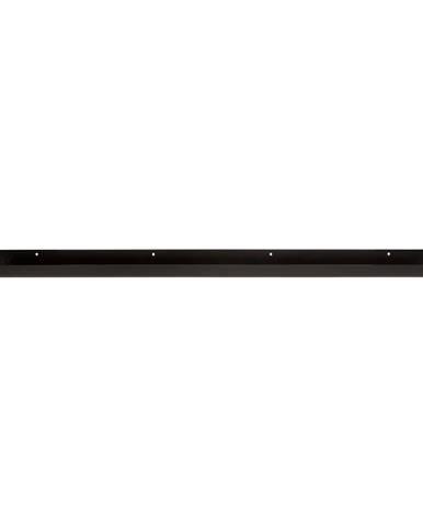 Čierna nástenná polica na fotografie WOOOD Ravi, dĺžka 80cm