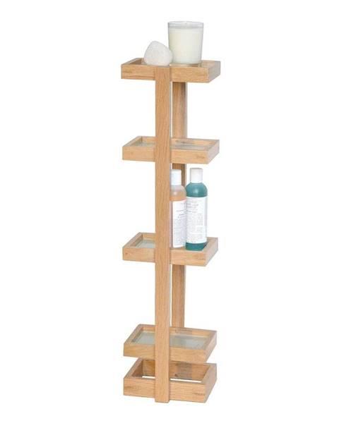 Wireworks Drevený stojan do kúpeľne z dubového dreva Wireworks Caddy Mezza, výška 73cm