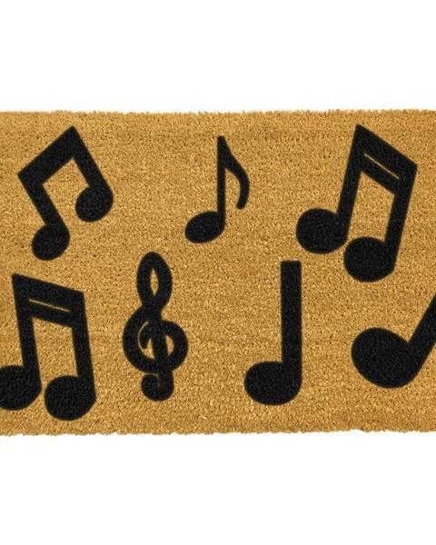 Artsy Doormats Rohožka z prírodného kokosového vlákna Artsy Doormats Music Notes, 40 x 60 cm