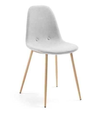 Svetlosivá jedálenská stolička La Forma Lissy