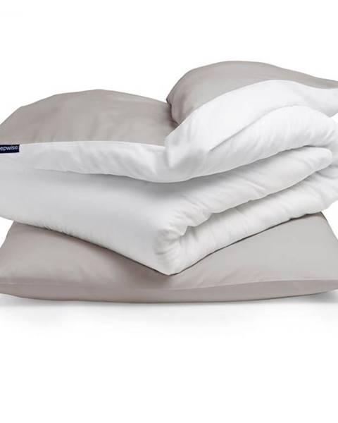 Sleepwise Sleepwise Soft Wonder-Edition, posteľná bielizeň, 135x200cm, hnedo sivá/biela