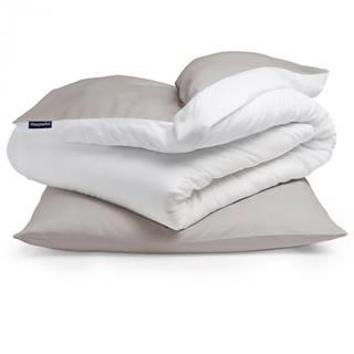 Sleepwise Soft Wonder-Edition, posteľná bielizeň, 135x200cm, hnedo sivá/biela