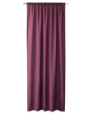 AmeliaHome Záves Oxford Pleat slivková, 140 x 250 cm