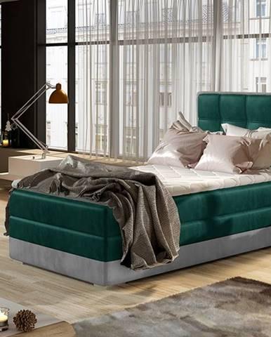 Alessandra 90 L čalúnená jednolôžková posteľ tmavozelená