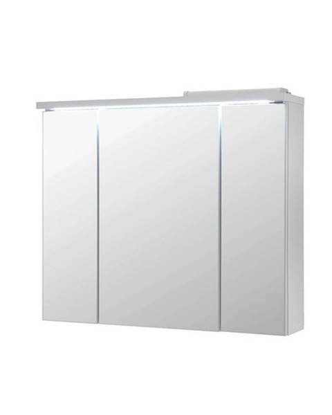 Sconto Zrkadlová skrinka POOL biela vysoký lesk, 80 cm