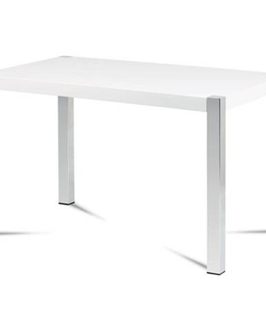Jedálenský stôl CHIPER biela, vysoký lesk