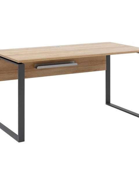 Sconto Písací stôl RYDER dub riviera/antracitová, 150x76 cm