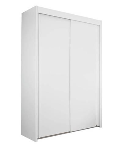 Šatníková skriňa KING 2 biela, 151 cm, bez zrkadla