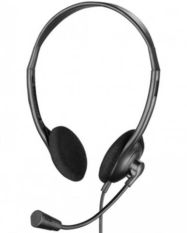 Slúchadlá Sandberg BULK USB s mikrofónom, čierne