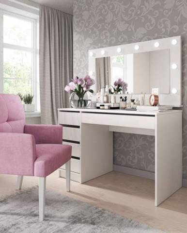 Toaletný stolík a zrkadlo Elke