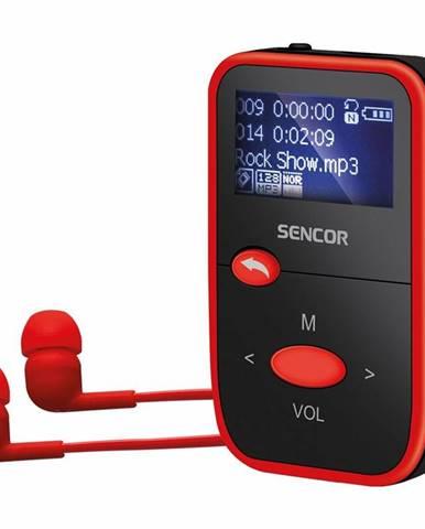 MP3 prehrávač Sencor SFP 4408 RD čierny/červen