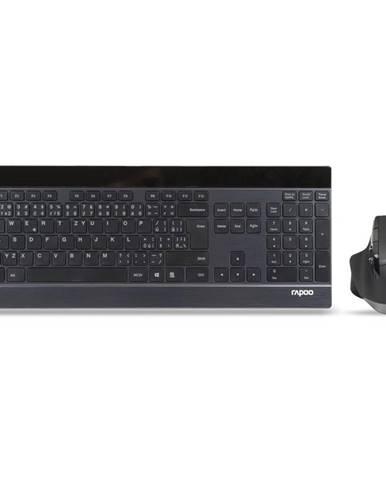 Klávesnica s myšou Rapoo 9900M, CZ/SK layout čierna