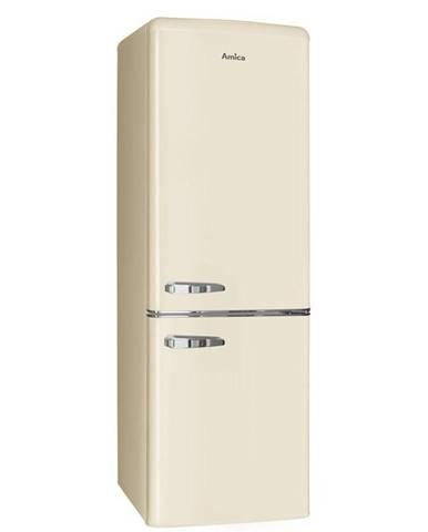 Kombinácia chladničky s mrazničkou Amica Retro VC 1622 M béžov