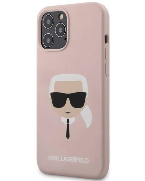 Karl Lagerfeld Kryt na mobil Karl Lagerfeld Head na Apple iPhone 12 Pro Max ružový