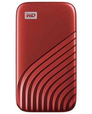 SSD externý Western Digital My Passport SSD 500GB červený
