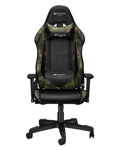 Herná stolička Canyon Argama čierna/zelená