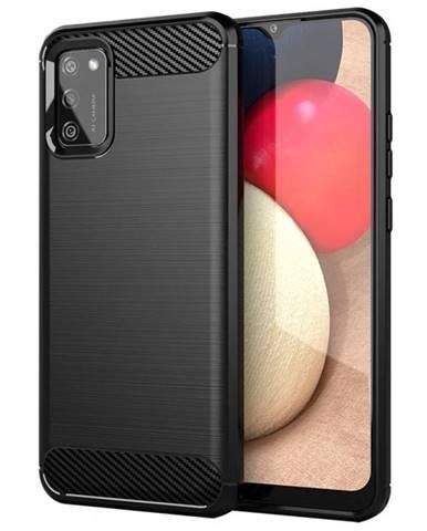 Kryt na mobil WG Carbon na Samsung Galaxy A02s čierny
