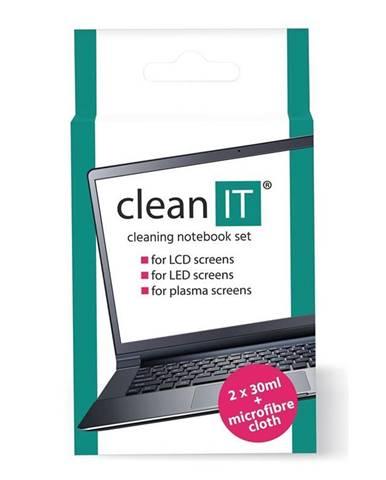 Čistiaca sada Clean IT roztok na notebooky s utěrkou, 2x30ml