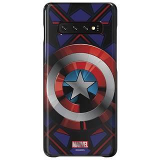 Kryt na mobil Samsung Captain America na Galaxy S10+ čierny