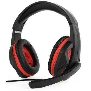 Headset  Gembird GHS-03 Gaming čierny/červený
