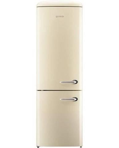 Kombinácia chladničky s mrazničkou Gorenje Retro Ork192c-L krémov