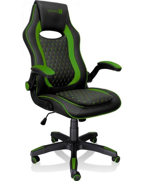 Connect IT Herná stolička Connect IT Matrix Pro čierna/zelená