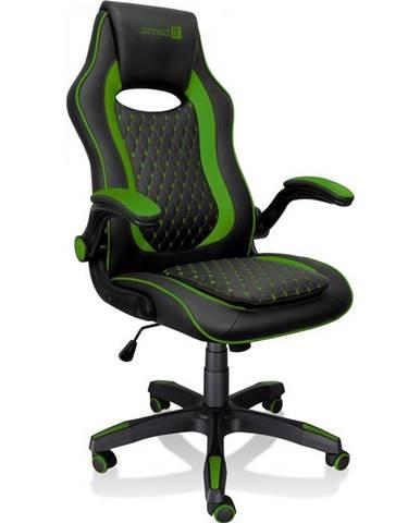 Herná stolička Connect IT Matrix Pro čierna/zelená