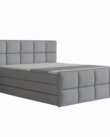 Komfortná posteľ sivá látka 160x200 RAVENA MEGAKOMFORT