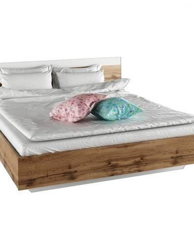 Manželská posteľ 160x200 dub wotan/biela GABRIELA