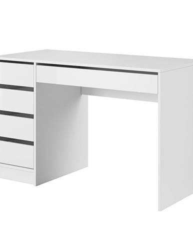 Toaletný stolík/písací stôl biela/biely lesk DAKOTA