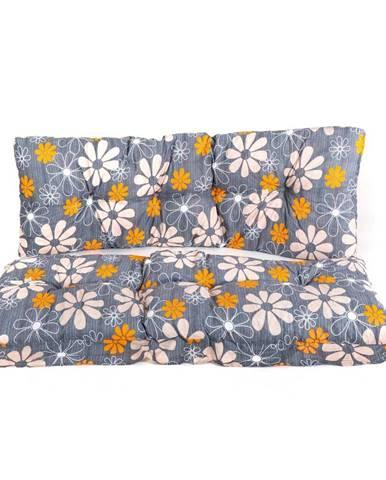 Vetro-Plus Polster na hojdačku Kvety, 130 cm