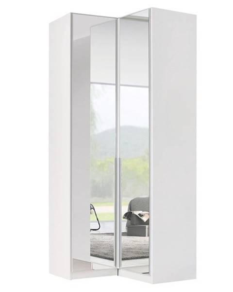 Sconto Rohová šatníková srkiňa ARIANNA alpská biela/vysoký lesk, 100 cm