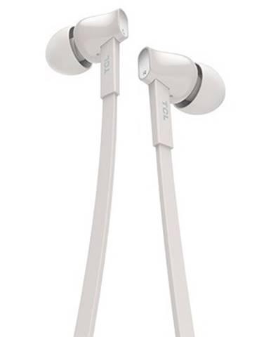 TCL slúchadlá do uší, drôtové, mikrofón, biela