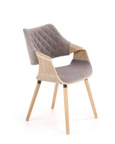 Jedálenská stolička Manza sivá