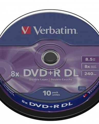 Verbatim DVD+R 8,5GB 8x, 10 ks