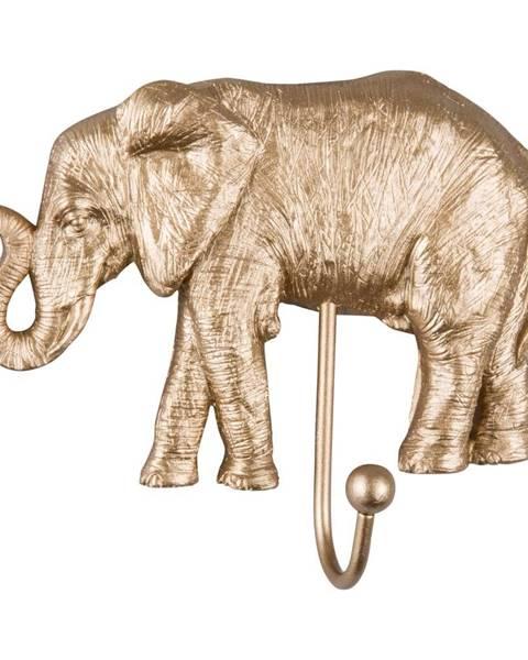 Leitmotiv Vešiak v zlatej farbe Leitmotiv Elephant