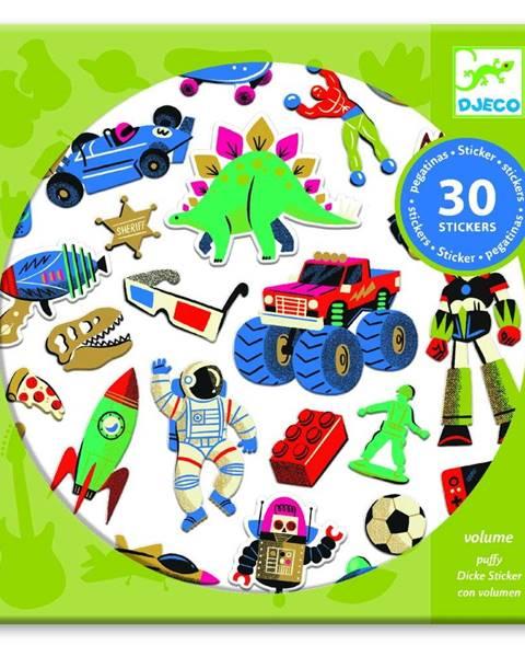 Djeco Sada 30 samolepiek Djeco Retro Toys