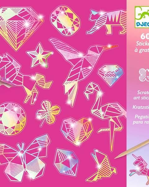 Djeco Sada 4 vyškrabávacích obrázkov Djeco Rainbow Ornaments