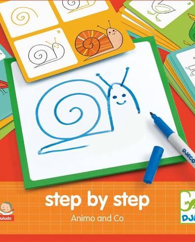 Kreatívna sada Djeco Step By Step Zvieratká