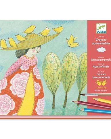 Výtvarný set s akvarelovými pastelkami Djeco Atelier Príroda