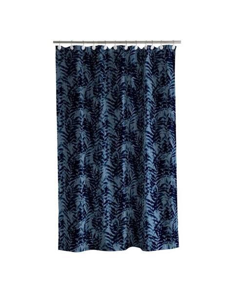 Södahl Modrý sprchový záves Södahl Leaves, 180x200cm