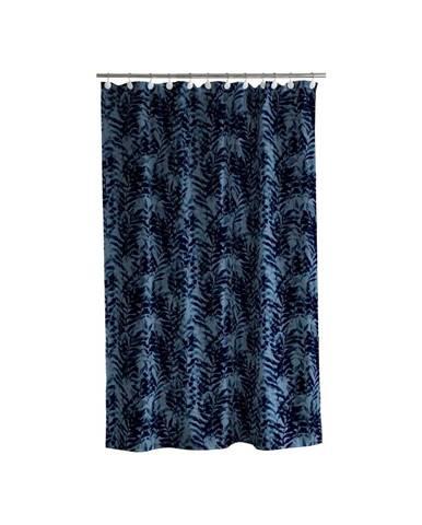 Modrý sprchový záves Södahl Leaves, 180x200cm