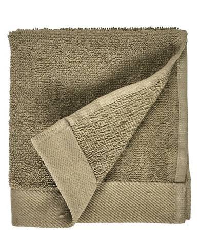 Olivovozelený uterák z froté bavlny Södahl Organic, 30 x 30 cm