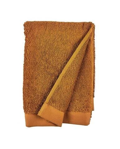 Oranžový uterák z froté bavlny Södahl Clay, 100 x 50 cm