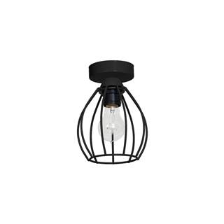 Čierne stropné svietidlo Don Uno
