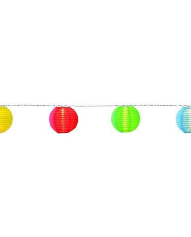 Svietiaca LED reťaz s lampiónmi vhodná do exteriéru Best Season Festival, 10 svetielok