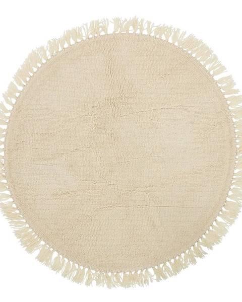 Bloomingville Béžový vlnený koberec Bloomingville Nature, ⌀ 110 cm
