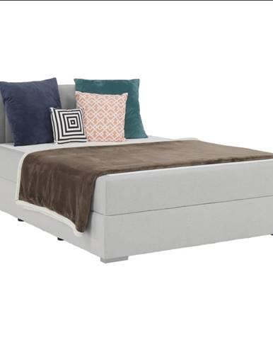 Boxspringová posteľ 140x200 svetlosivá FERATA KOMFORT