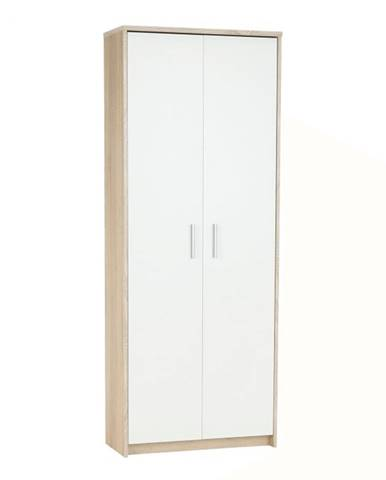 Kancelárska skriňa dub sonoma/biela JOHAN 2 NEW 05